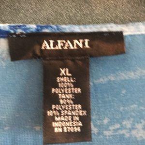 Alfani chiffon multi colored top